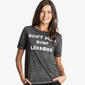 Roxy Puerto Pic Surf Lessons T-Shirt Small NWT
